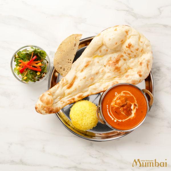 インド料理ムンバイ バターチキンカレー&ナン