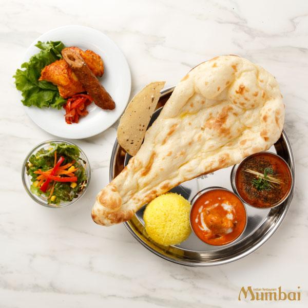 インド料理ムンバイ BBQ&ダブルカレーセット ハーフ&ハーフセット タンドリーグリル