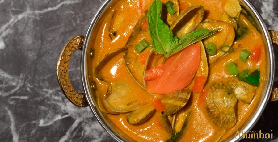 インド料理ムンバイ あさりカレー