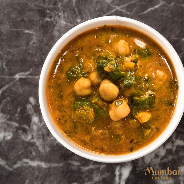 ムンバイエクスプレス ひよこ豆とほうれん草のカレー
