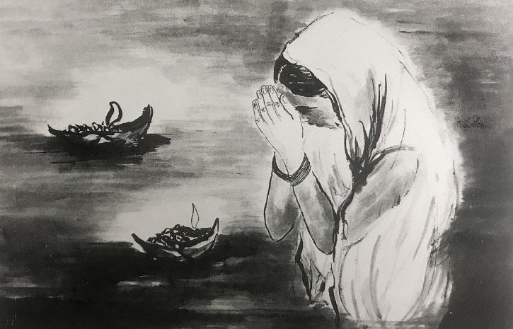 小谷野洋子「ガンジスに祈る」