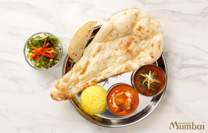 ブラックペッパーチキン プレミアムカレーセット ランチ インドカレー インド料理ムンバイ