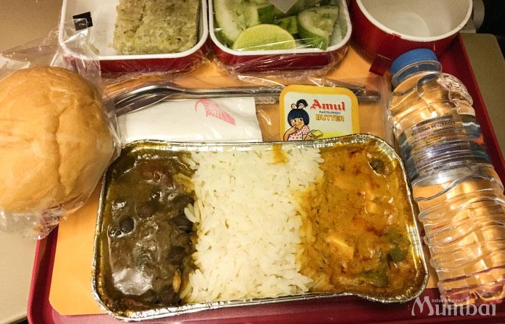 機内食 インド旅行 ムンバイ India Mumbai