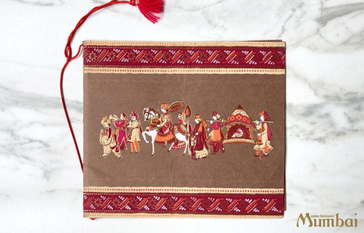 インドの結婚式 Indian Wedding 招待状