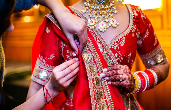 インドの結婚式 Indian Wedding ドレス サリー