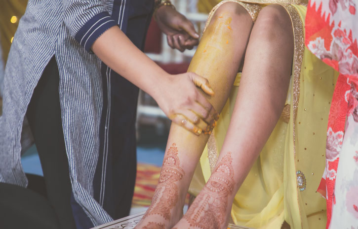 インドの結婚式 Indian Wedding ターメリックでお清め