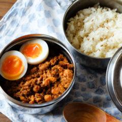 ダッバー 使用例 Dabba インドのステンレス弁当箱 ダッバーワラ カレー弁当 スパイスカレー ズィーラライス