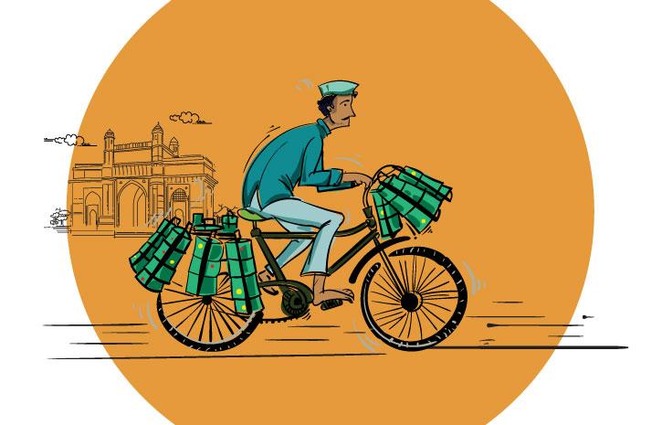 ダッバー Dabba インドのステンレス弁当箱 ダッバーワラ dabba wala